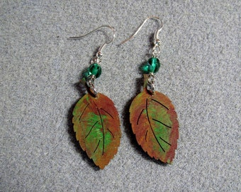 Autumn Leaves Maple Oak Handmade Wooden Dangle Earrings Hypoallergenic 16E