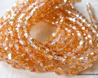 4mm Czech Beads - Crystal Celsian Faceted Round - 50 pcs (G- 95)