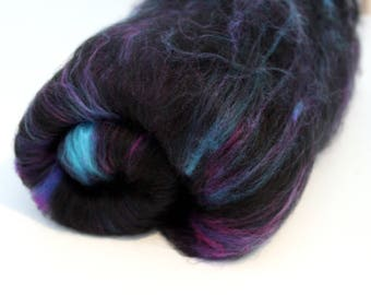 Carded Batt Merino Wool & Nylon Spin your own Sock Yarn - Space Odyssey 50g 100g