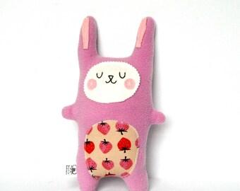 Baby Girl Gift, Plush Bunny, Rabbit Softie, Rabbit Doll, Stuffed Animal - Baby Shower Gift