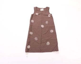 SALE 720 Organic Linen Stamped Tank Dress Sizes XS, Medium, and Large Available