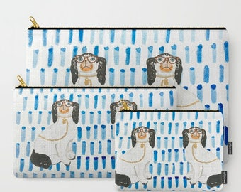 BESPECTACLED ON BLUE Pouches/Ipad case