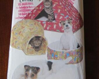 Butterick 5903 Dog Cat Pet Beds Sewing Pattern UNCUT