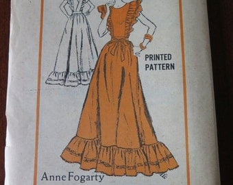 Vintage Anne Fogarty Pinafore Style Wrap Dress Sewing Pattern size 16 B38