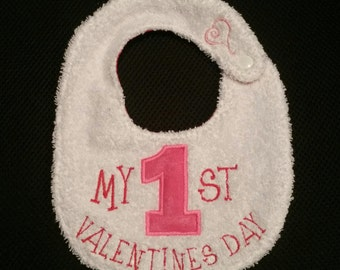 Infant Toddler Baby Bib MY FIRST VALENTINES day