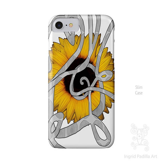 Sunflower iPhone case, iPhone 7 Case, iPhone 7 plus Case, iPhone 6 case, iPhone 6s case, iPhone 6 Plus Case, iPhone 5s case, Galaxy S7 Case