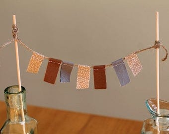 Beach cake banner, Shower garland, Birthday cake top, Cake smash, Sand and ocean, Cake topper, Photo prop, cake garland fabric tassel