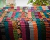 Versicolor Stripes Quilt