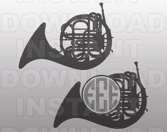 French Horn SVG File,Marching Band SVG,Band Mom SVG-Commercial & Personal Use - Vector svg file Cricut,svg file for Silhouette,vinyl cutter