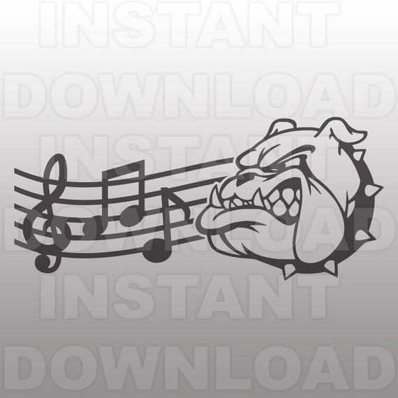 Bulldogs Marching Band Mascot Svg File Commercial Amp Personal