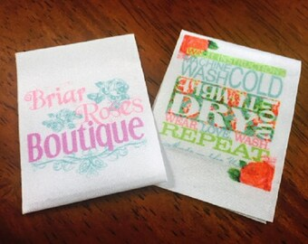 600 Satin Ribbon Clothing Labels - Sewing Tags - Digitally Printed - UNLIMITED COLORS - Made in USA