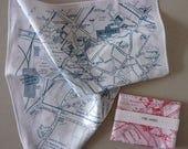 York City Map Hankie screenprinted cotton handkerchief