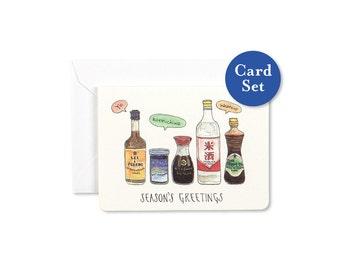 Season's Greetings Mini Card Set of 8