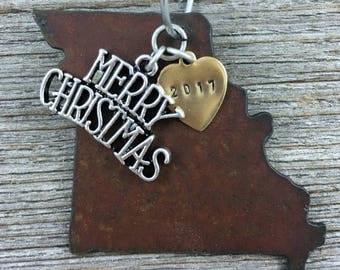 MISSOURI Christmas Ornament, MISSOURI Ornament, Christmas Gifts 2017 Christmas Ornaments, Personalized Gift, MISSOURI Ornaments