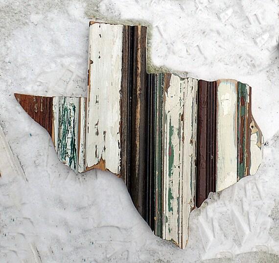 Texas Art Houston Decor Rustic State Outline Rustic Texan