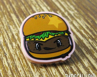 Roller Derby Jamburger Lapel Pin
