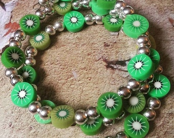 Kiwi Fruit Wrap Bracelet