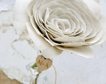 4th Wedding Anniversary Linen Rose. Check MAKING and DELIVERY times  prior to  purchase