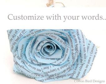 Cotton Anniversary Custom Wording Made to Order