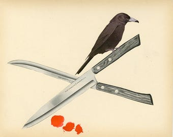 The Bay Harbor Butcher Bird. Original collage by Vivienne Strauss.