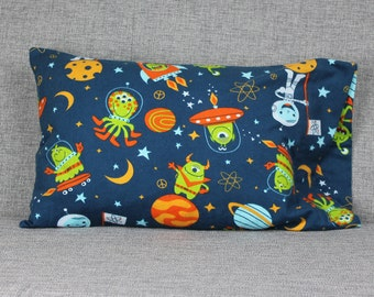 Space Flannel Toddler Pillowcase - fits 13 x 18 Travel Pillow