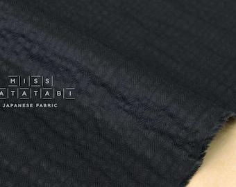 Japanese Fabric dobby ripple - black - 50cm