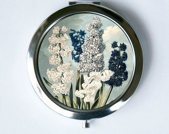 Hyacinths Blue Flower Compact Mirror Pocket Mirror