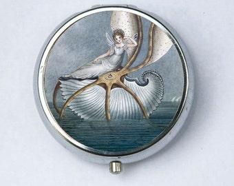Fairy on a Shell Pill Case pillbox pill holder fairytale