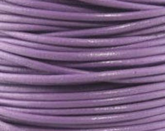 "2mm Round Lilac Leather Lace Cord - 2mm 3/32"" Diameter Purple Lavender Craft Jewelry Bracelet Wrap Necklace - I ship Internationally"