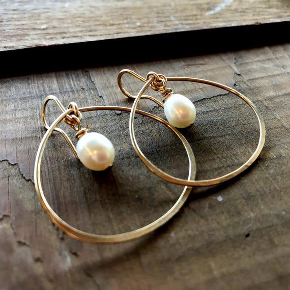 Pearl and Petal Hoops