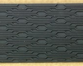 INTERLOCKING Rubber Texture Tile Mat Stamp for Clay inks  Paint Soap   TTL756