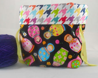 Russian Dolls project bag by AnniePurl