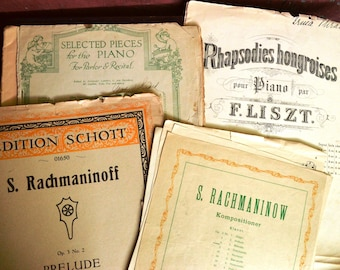 Lot of Antique Sheet Music