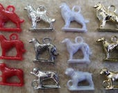 3 x Different Vintage Plastic Dog Charms