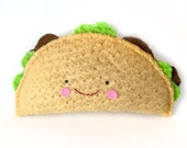 Happy Taco - Recycled Wool Sweater Plush Toy