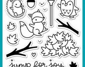 Lawn Fawn Clear Photopolymer Rubber Stamp set- jump for joy