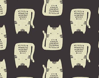 Sarah Golden for Andover FABRIC - Maker Maker - Cats in Black