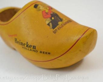 Heineken Holland Beer Wooden Shoe Clog Vintage