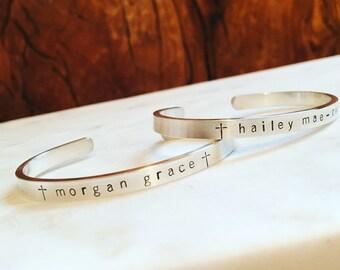 First Communion Cuff Bracelet