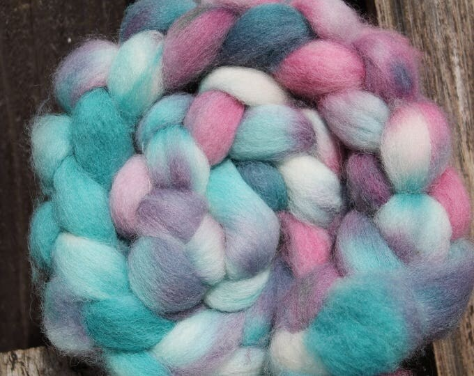 Kettle Dyed Cheviot Wool Top.  Easy to spin. 4oz  Braid. Spin. Felt. Roving. C98