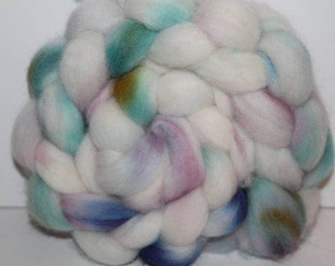 Kettle Dyed Cheviot Wool Top.  Easy to spin. 4oz  Braid. Spin. Felt. Roving. C121