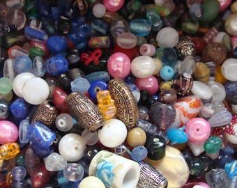 Mixed  Beads  Mix Assorted Beads 6oz Multi Color Destash Grab Bag
