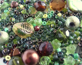 Olive Greens and Browns Bead Soup Mix 57 Grams