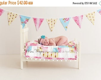 ENTIRE Store On SALE Bunting Flag Banner, Large, Double Sided Flags.  Shabby Chic Designer Fabrics, Ready to Ship.
