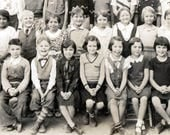 vintage photo Fresno Elementary Children High third Classroom 1934