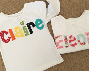 Personalized Name Shirt - Girls Shirts, Personalized and Custom Shirts, Birthday Present, Christmas Present