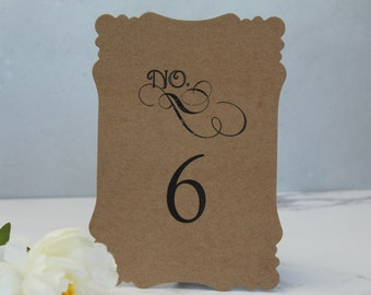Table Number Cards - Wedding Reception Signs - Table Number Signs - Rustic Wedding Table Number Cards - White Table Number Signs