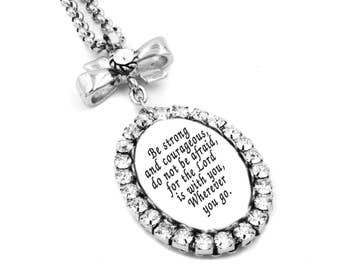 Prayer Jewelry, Faith Pendant, Personalized Scripture, Faith Jewelry, Bible Scripture, Bible Verse Pendant