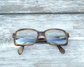 Vintage  1970s French faux tortoise  eye glasses