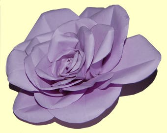 Lavendar Rose Handmade of Paper - Lifesize